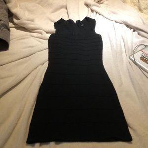 Black bandage body con dress